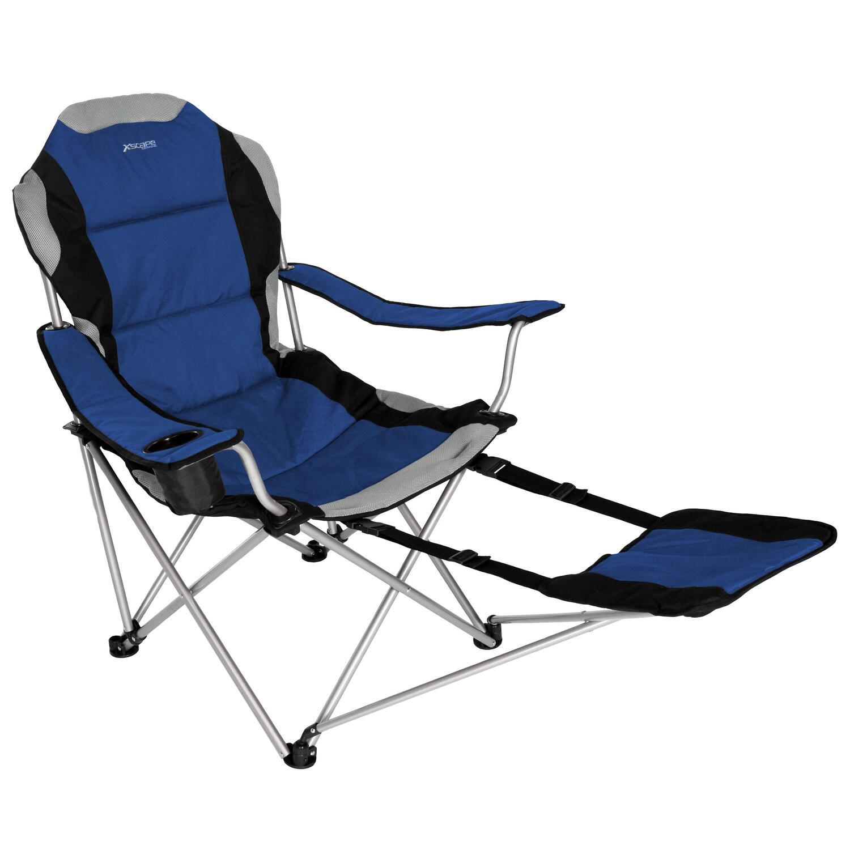 Xscape Sportline Xl Quad Fold Chair W Footrest Black by OJ merce $44 99