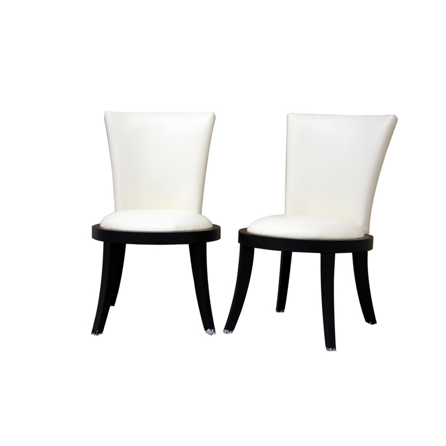 White leather dining chairs for sale furniture haslet for White dining room chairs modern