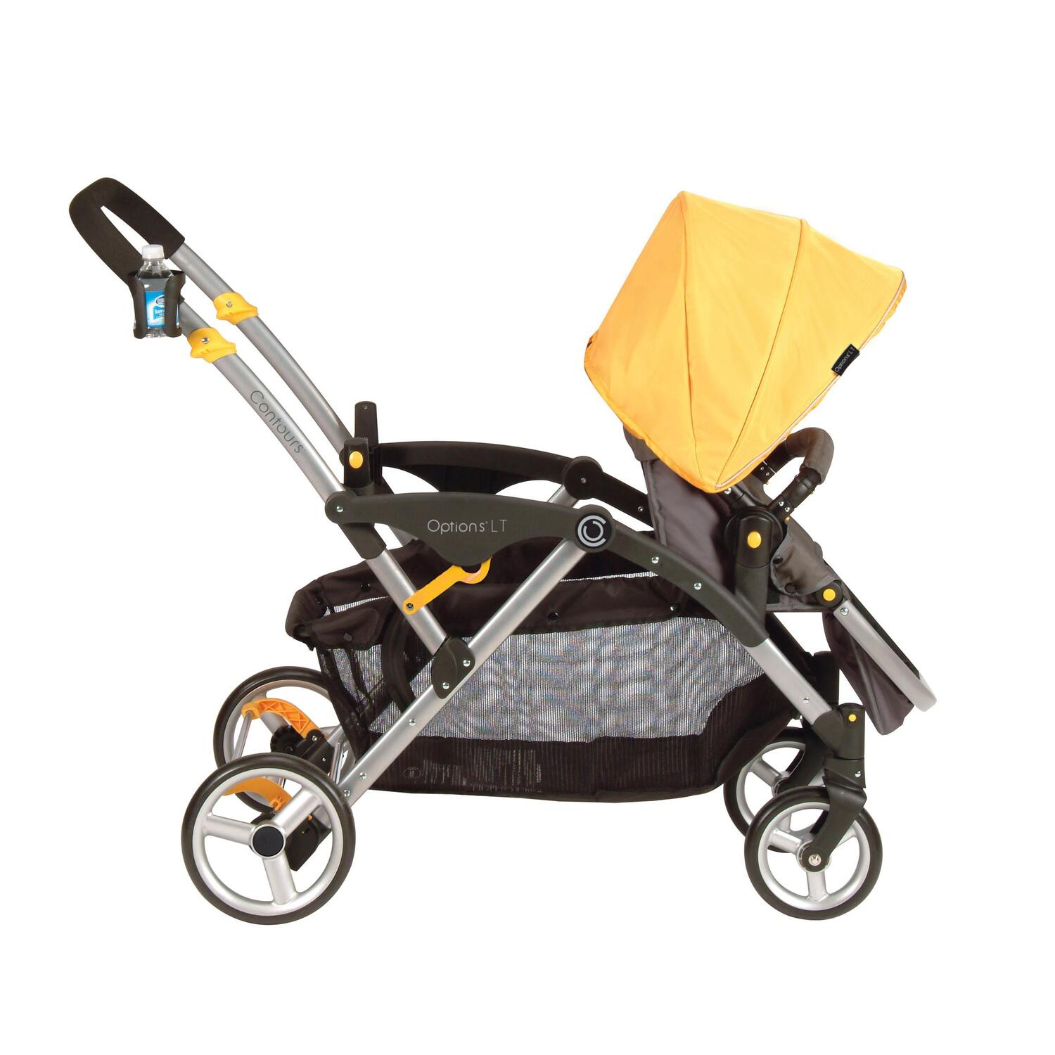 how to put the front wheel on a jogging stroller