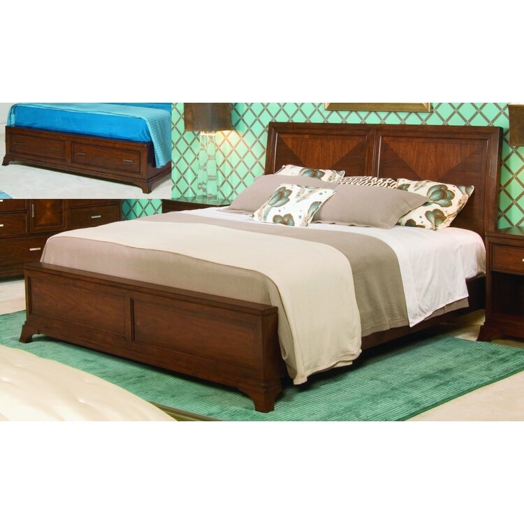 Low Profile Sleigh BedwithStorage Footboard King