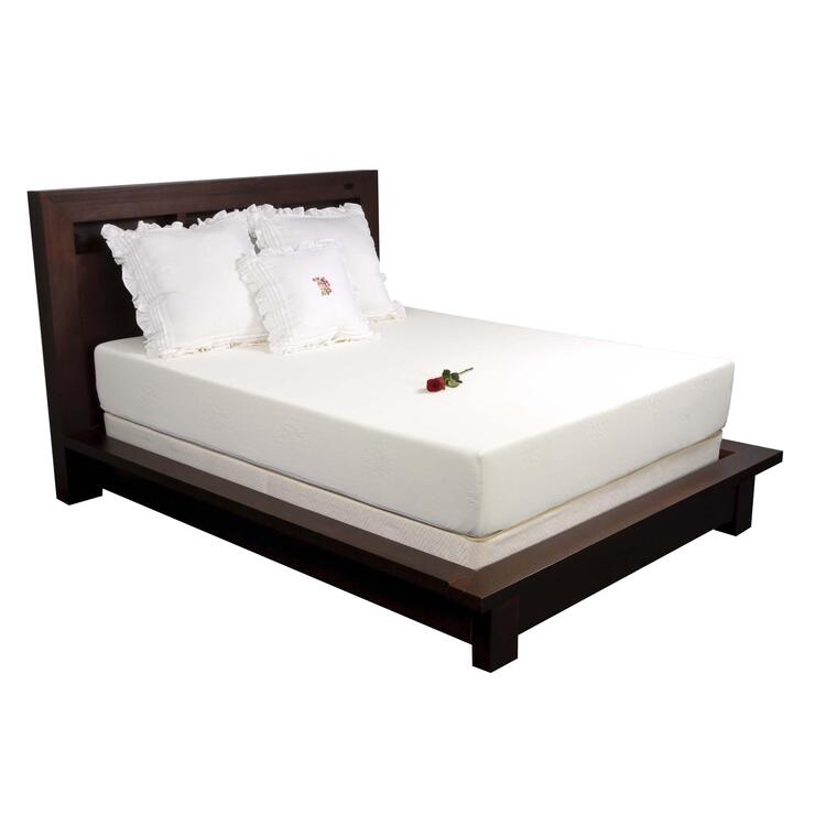 10 in. Platinum Memory Foam Mattress with Unique Ventilation System