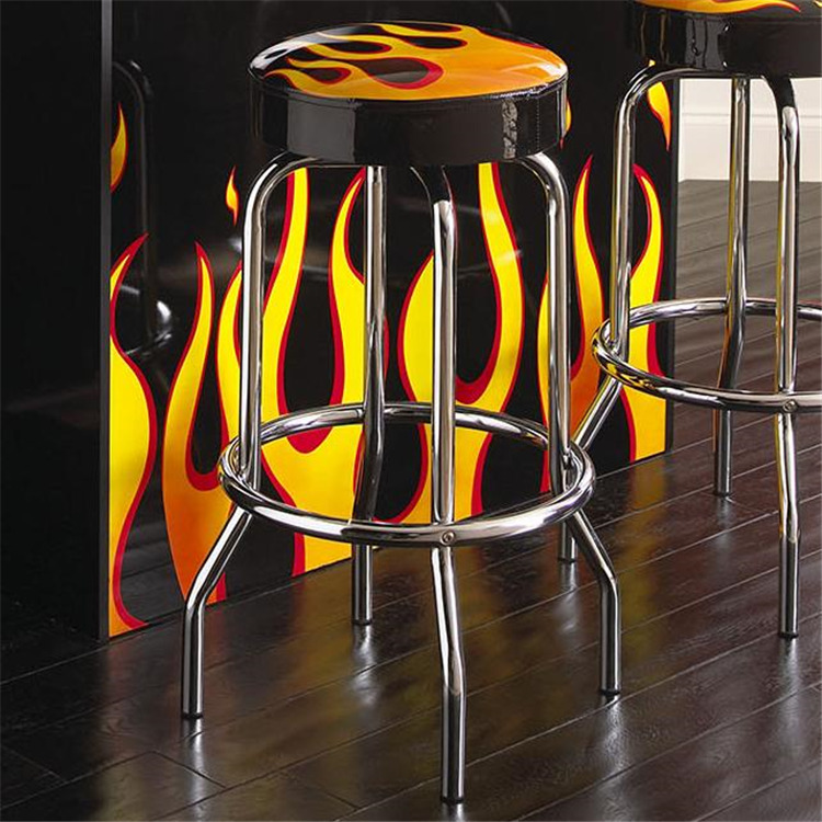 Flame Swivel Barstool