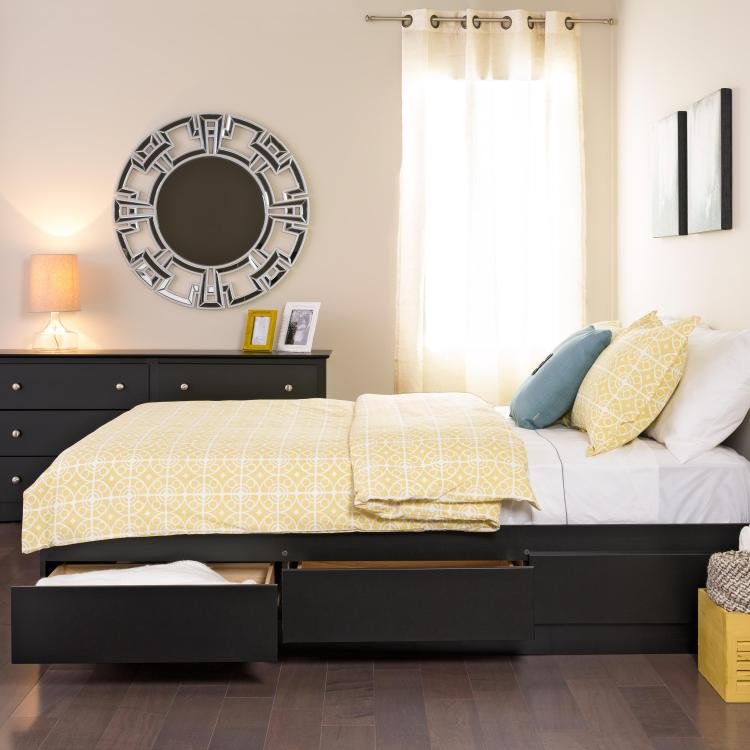 Queen 6 drawer Platform Storage Bed