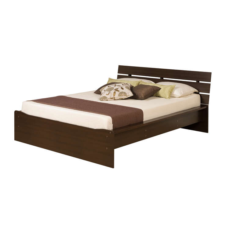 Avanti Queen Platform Bed with integrated slat headboard