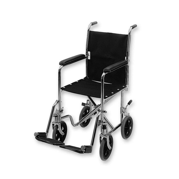 Lightweight 19in Transport Chair With Hammer Tone Finish