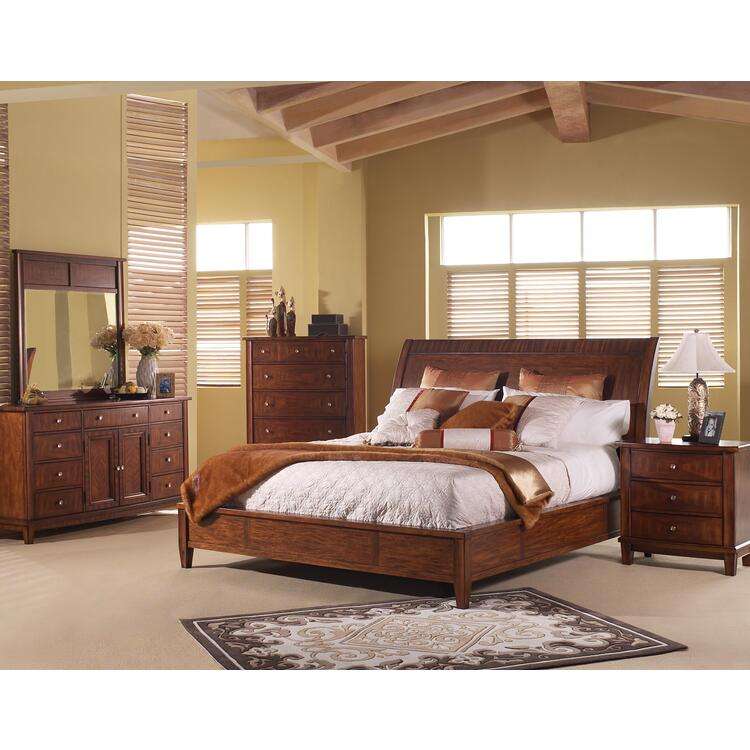 Runway Queen Sleigh Bed