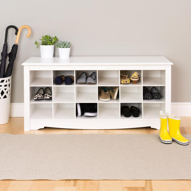 Shoe Storage Cubbie Bench