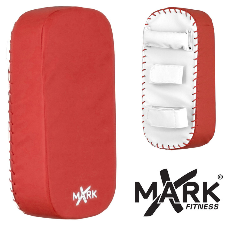 Red & White Straight Kick Mitt