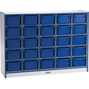 25 Tray Mobile Cubbie With Trays