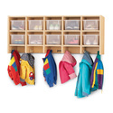 Maplewave Coat Locker - Large Wall Mount With Clear Trays