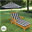 Outdoor Chaise with an Umbrella