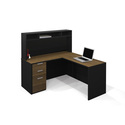Pro-Concept L-Shaped Workstation with Small Hutch Deluxe Set