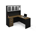 Pro-Concept L-Shaped Workstation with High Hutch Set