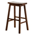 Wood Saddle Counter Stool