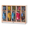 Toddler Coat Locker - 5 Sections - Black