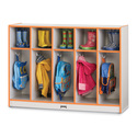 Toddler Coat Locker - 5 Sections - Black