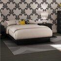 Full/Queen Black Wood Platform Bed 4 Piece Bedroom Set