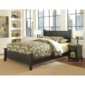Arts & Crafts  Black Queen Bed & Night Stand