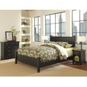 Arts & Crafts  Black Queen Bed, Night Stand, & Chest