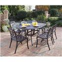 Biscayne 7 Piece Dining Set With Table And Six Arm Chairs