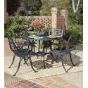 Malibu 5 Piece Dining Set With Outdoor Dining Table And Four Arm Chairs