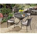 5 Piece Dining Set With Delmar Table And 4 Laguna Slope Arm Chairs