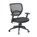 Professional Managers Chair with Air Grid Back and Leather Seat