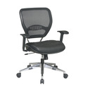 Professional Task Chair with Air Grid Back and Leather Seat