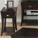 Manhattan Espresso Finished Chairside Table