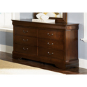 Carrington Cherry 6 Drawer Dresser