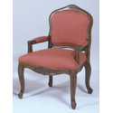 French Provencial Pecan Arm Chair