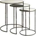 Flouressa Mirror Top Nesting Tables - Set of 3