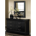 Carrington Black 6 Drawer Dresser