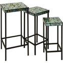 Aramis Mosaic Glass Tables - Set of 3