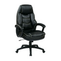 Oversized Executive Faux Leather Chair with Padded Arms