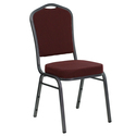 HERCULES Series Crown Back Stacking Banquet Chair with Fabric and 2.5'' Thick Seat