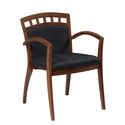 Wood Guest Chair with Upholstered Seat