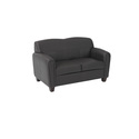 Pillar Faux Leather Love Seat