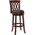 Stool with Black Leather Swivel Seat