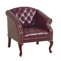 Queen Ann Traditional Ox Blood Chair