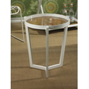 Round White Lacquer Accent Table