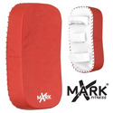 Red & White Curved Kick Mitt
