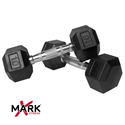 XMark Pair of 10 lb. Rubber Hex Dumbbells XM-3301-10-P