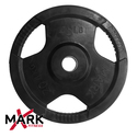XMark Rubber Coated Tri-grip Olympic Plate Weights - Pair
