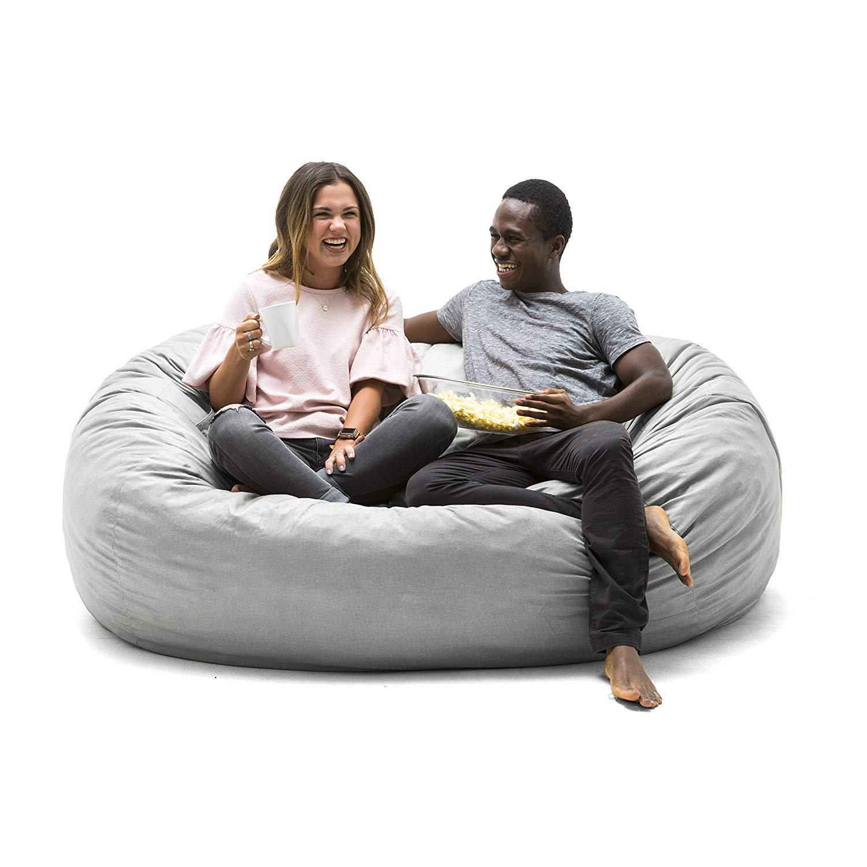 Fantastic Comfort Research Big Joe 0000658 Foam Filled Bean Bag Chair X Large Fog Lenox Uwap Interior Chair Design Uwaporg