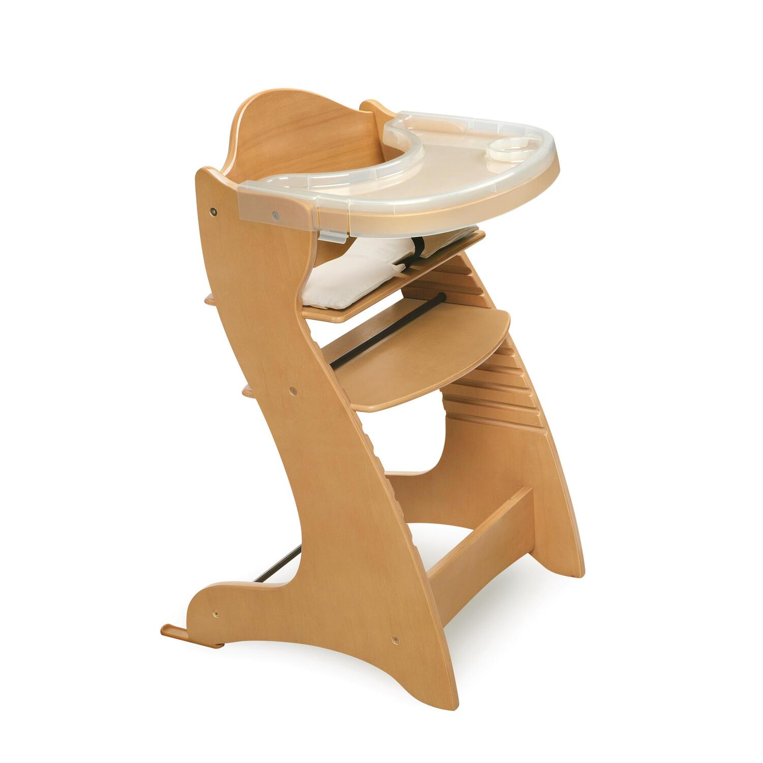 badger basket embassy wood high chair with tray by oj commerce 00933a. Black Bedroom Furniture Sets. Home Design Ideas