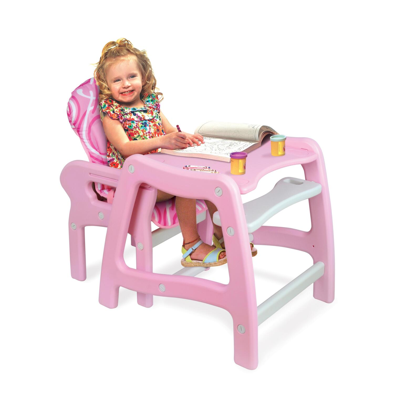 Envee Baby High Chair With Playtable Conversion From