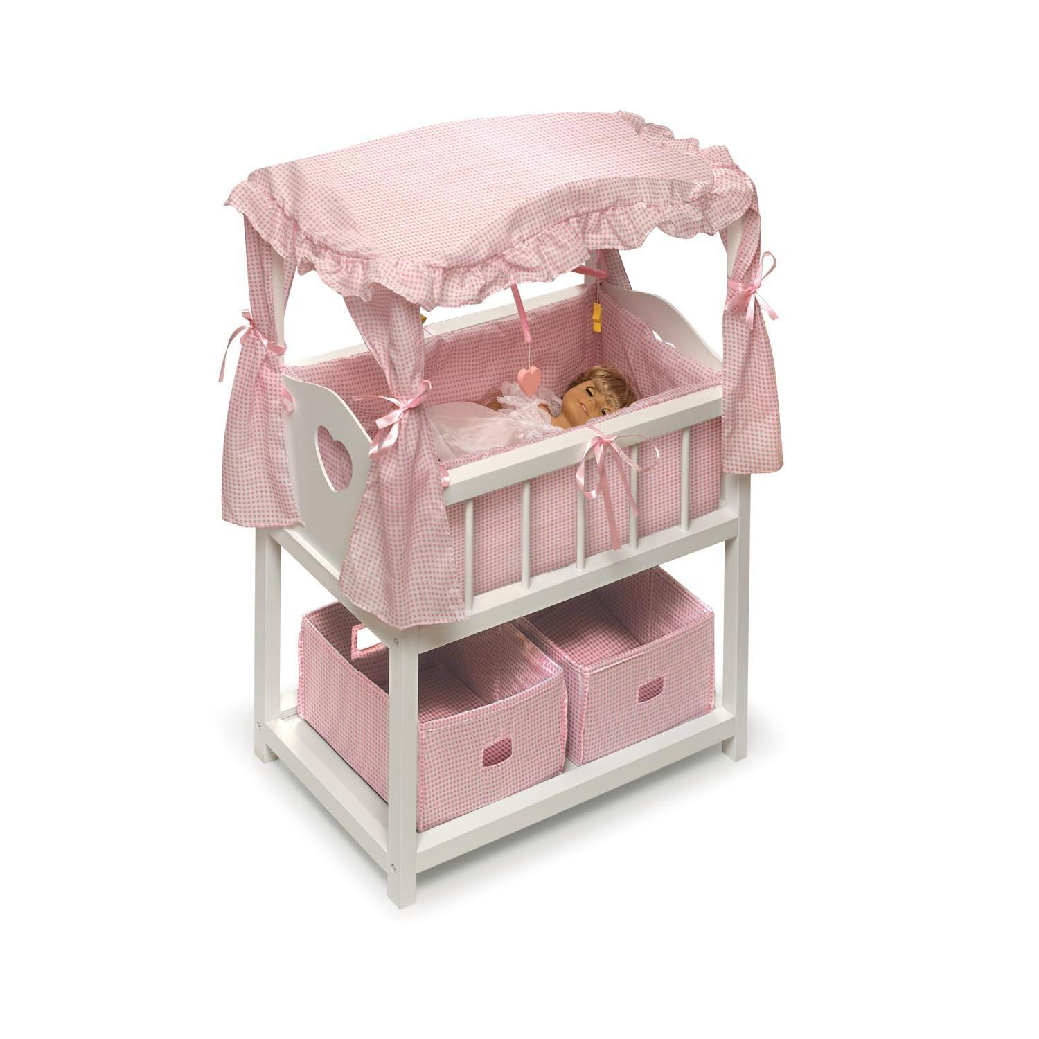 Canopied Doll Crib Furniture Set From 162 99 To 216 99