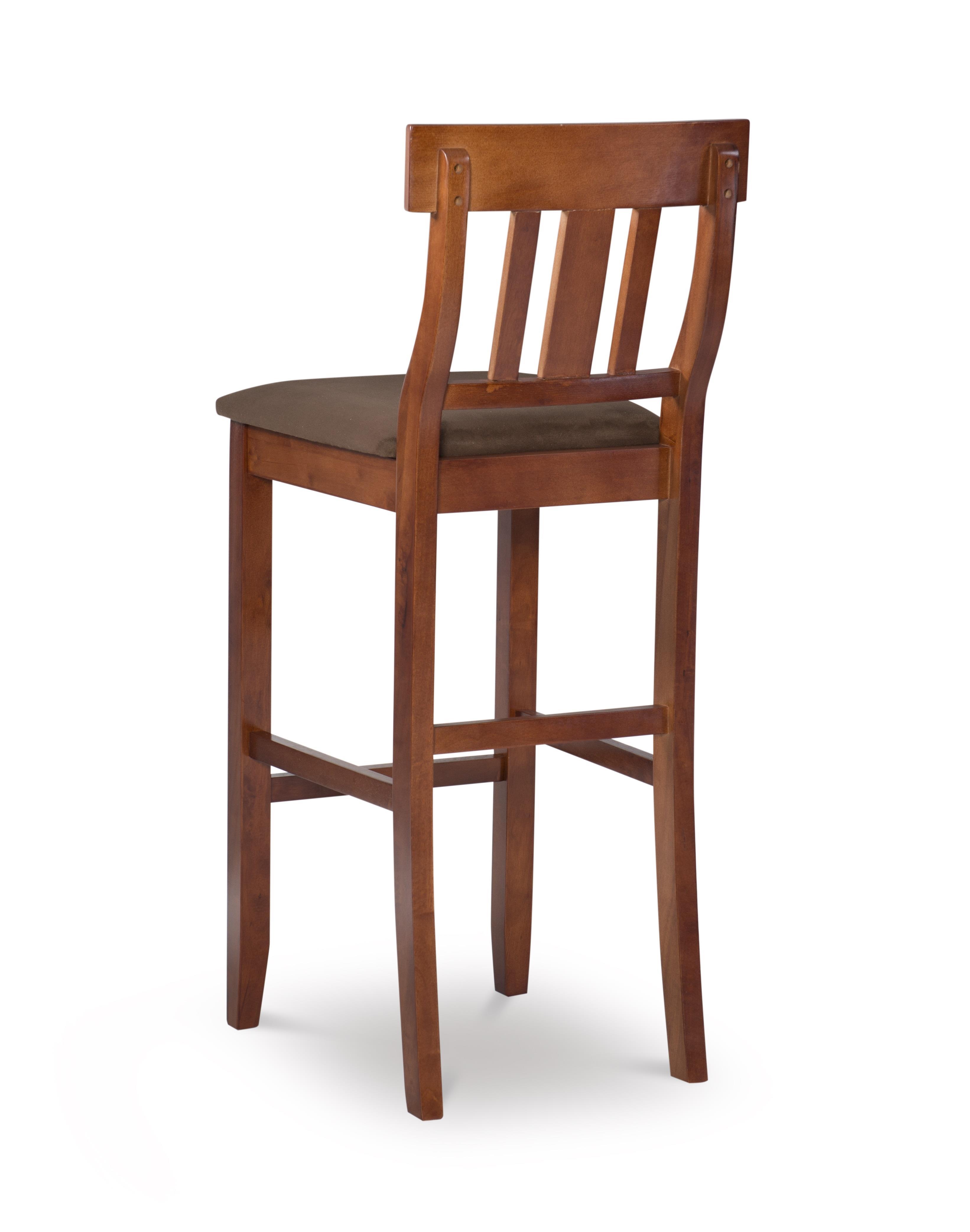 Pleasant Linon Torino Collection Slat Back Bar Stool Brown Squirreltailoven Fun Painted Chair Ideas Images Squirreltailovenorg