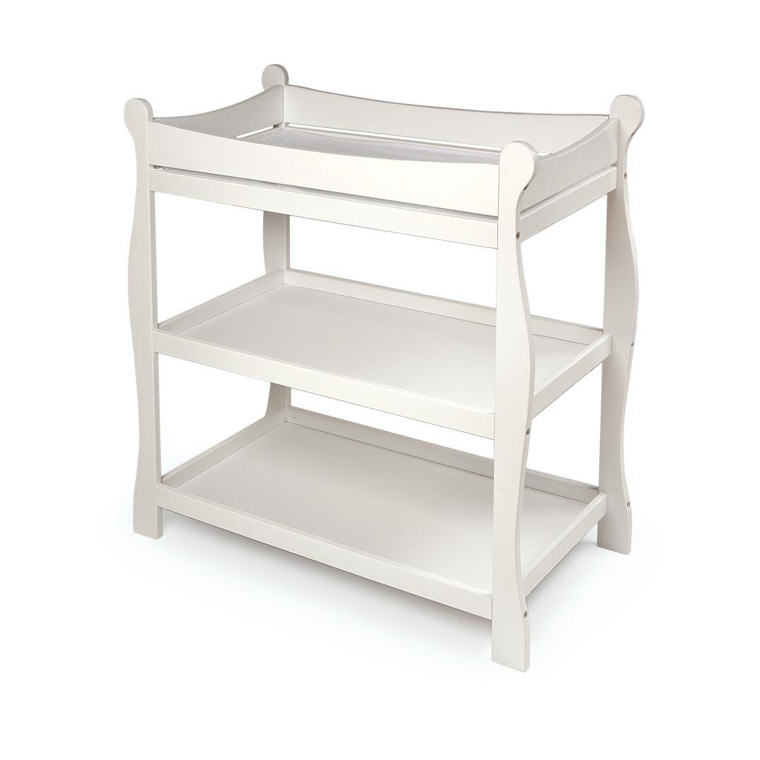 Sleigh Style Changing Table Ojcommerce
